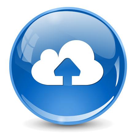 cloud technology: upload icon Illustration