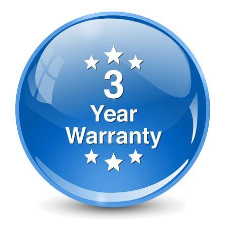 warranty: 3 year warranty button