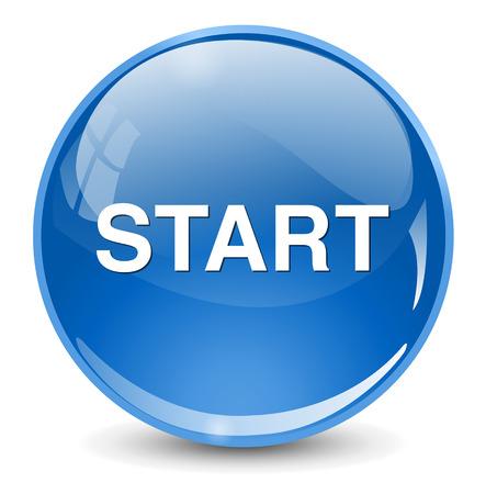 Botón START Foto de archivo - 41011705