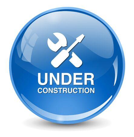 under construction sign: under construction button