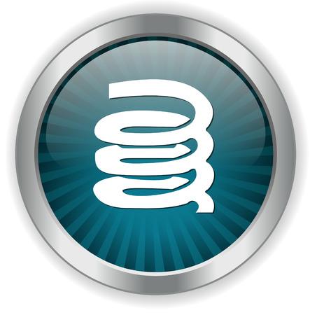 fastener: Zip  icon Illustration