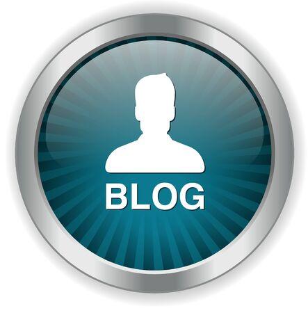 design media love: Blog button Illustration
