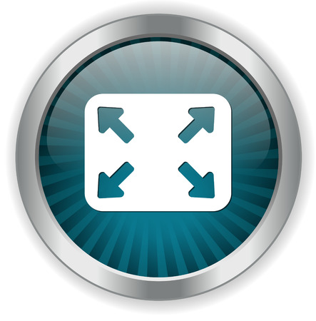 pointing arrows: four arrows pointing button Illustration
