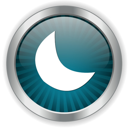 crescent: new moon, crescent button Illustration