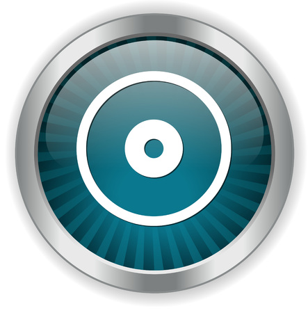 compact: Compact disk icon. Cd or DVD symbol