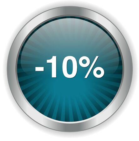 boton on off: 10 por ciento de descuento bot�n