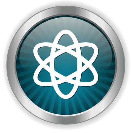 neutron: atom icon Illustration