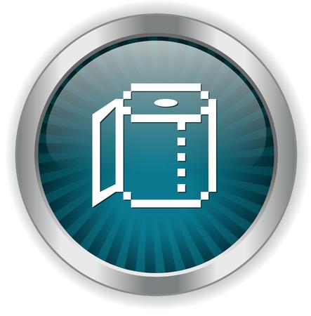 camera film: Camera film button Illustration