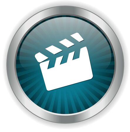 movie clapper: movie clapper icon