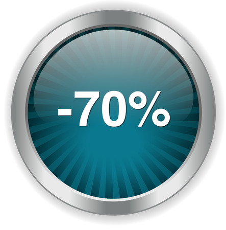 on off button: 70 percent off button