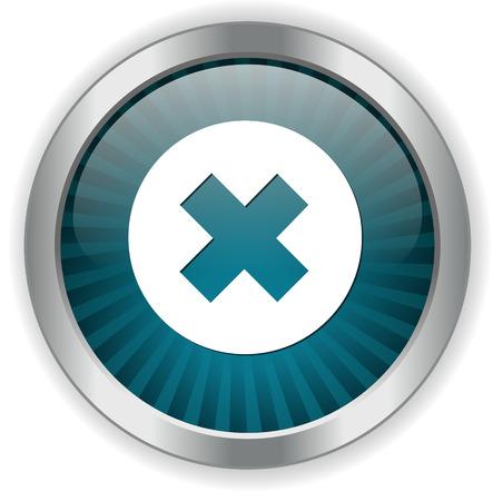delete button: cancel icon, delete button