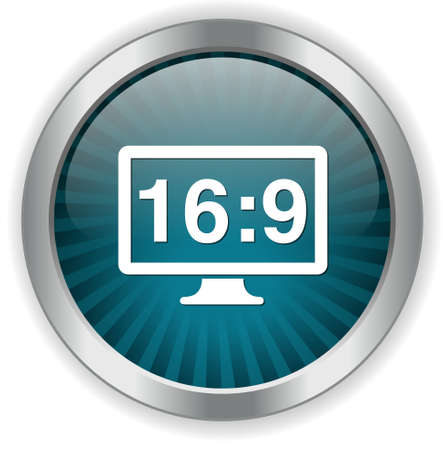 16 9: 16 9 display  button Illustration