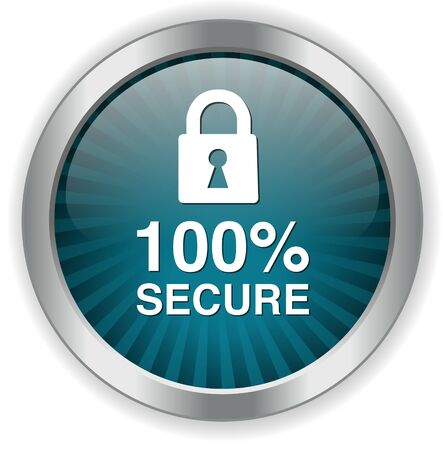 secure icon: Padlock, secure icon, button Illustration