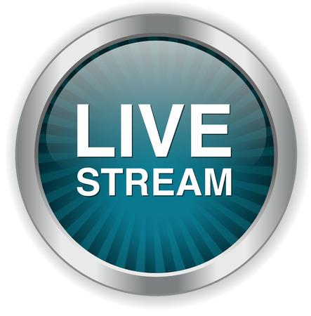 livestream: Livestream button Illustration