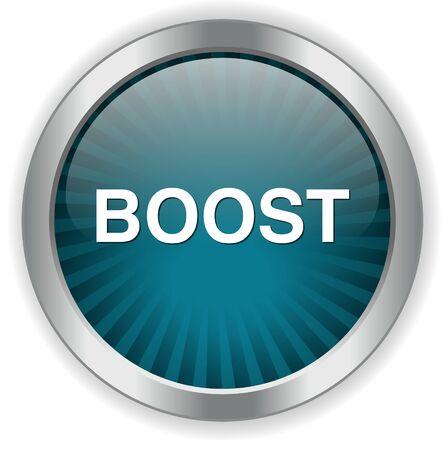 coup de pouce: bouton boost Illustration
