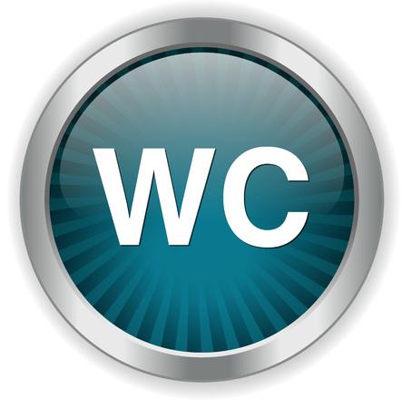 wc: wc button Illustration