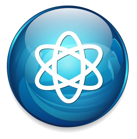 PROTON: atom icon Illustration