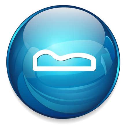 gente durmiendo: Icono de la muestra del sueño Vectores