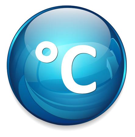 weather  c degree icon Vector
