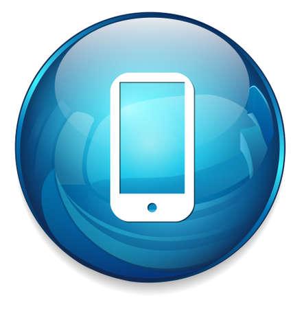 phone button: smart phone button Illustration