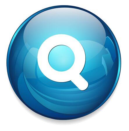 search button: search button Illustration
