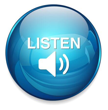 listening: Listen button Illustration