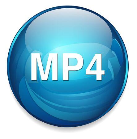 mp4 icon Vector
