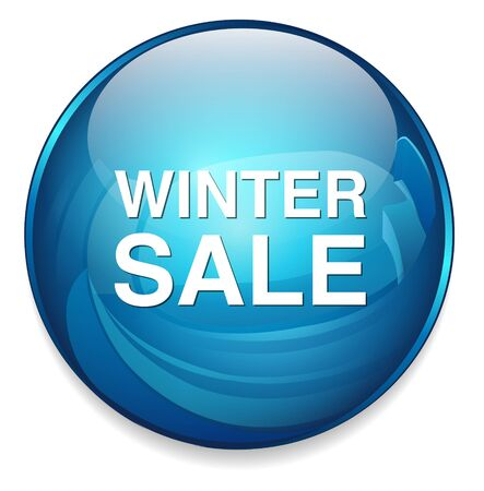 sale icon: winter sale icon