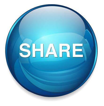 face book: bot�n compartir Vectores