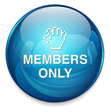 only members: Members only button Illustration