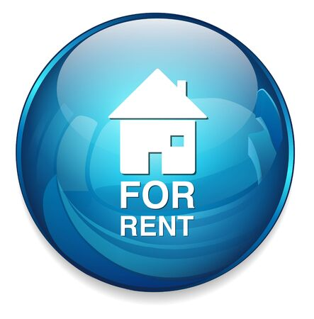 for rent: for rent sign button