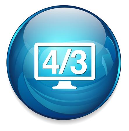 display: 4  3 display icon