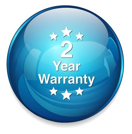 warranty: 2 year warranty button