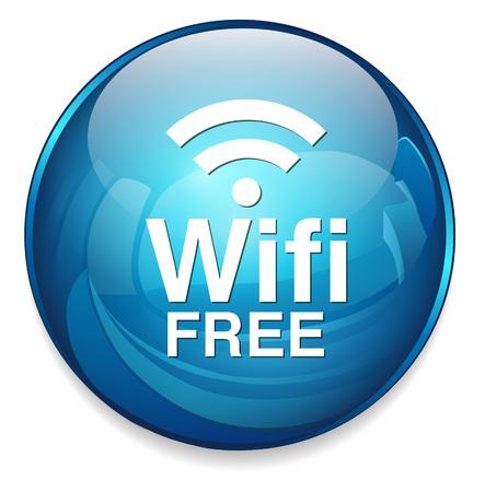 free button: wifi free button Illustration