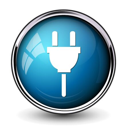 plug adapter: Power plug icon