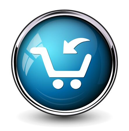 online purchase: add to cart button, buy now icon Illustration