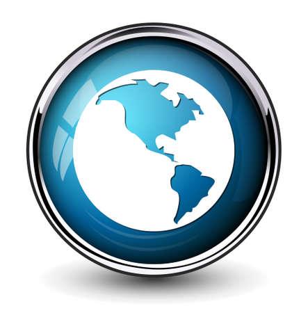 world globe: Globe earth icon