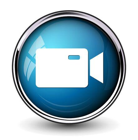 video camera icon: Video camera icon Illustration