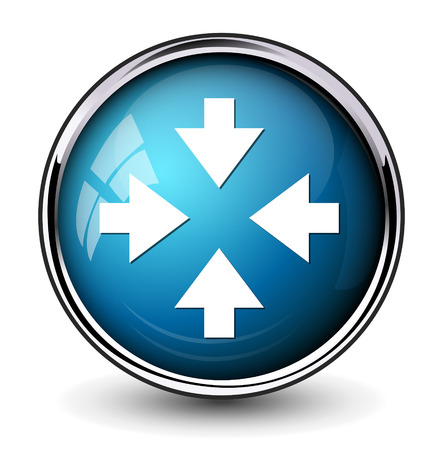 top pointer: four arrows pointing button Illustration