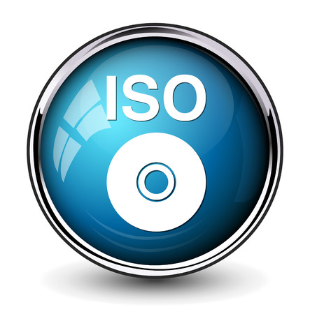 iso: iso cd dvd button Illustration