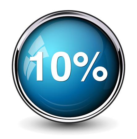 10 percent icon Vector