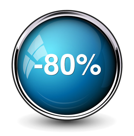 off on: 80 percent off button