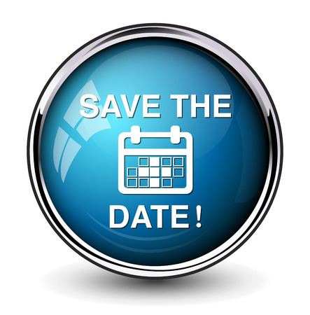 Save the date knop Stock Illustratie