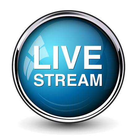 livestream: Livestream button Illustration