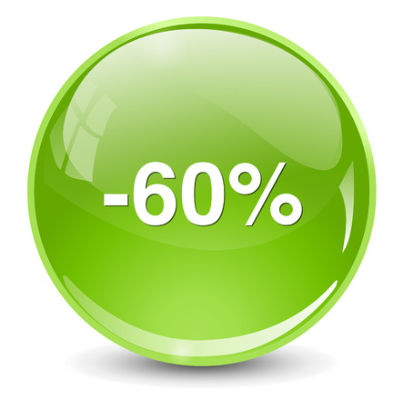 60: 60 percent off Illustration