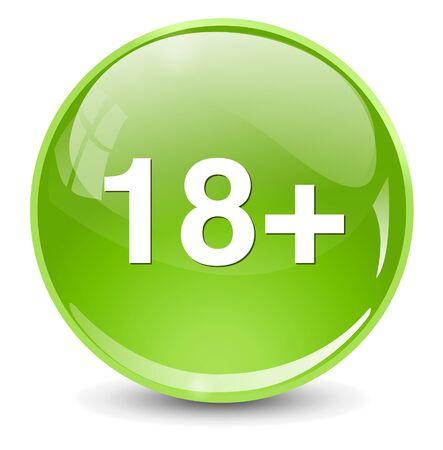 18: +18 button Illustration
