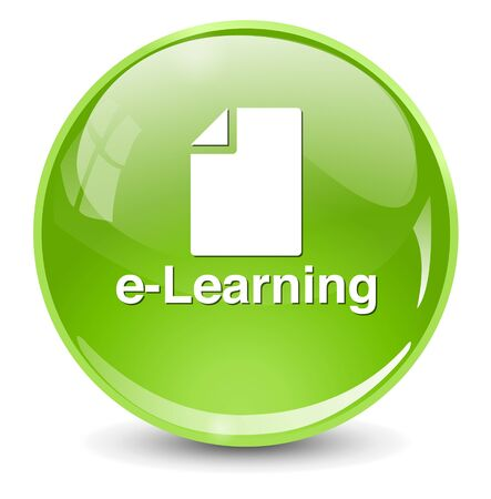learning computer: e-learning button