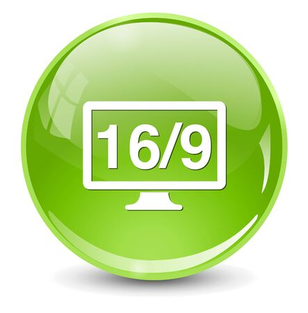 display: 16  9 display icon