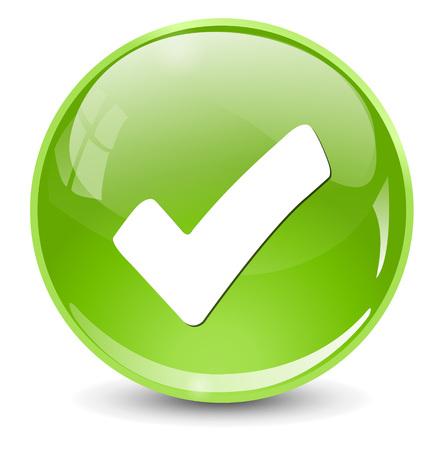 right choice: check mark icon Illustration