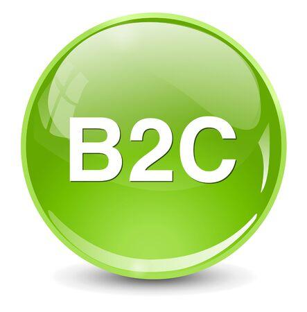 b2b: b2c ( business to consumer ) button Illustration